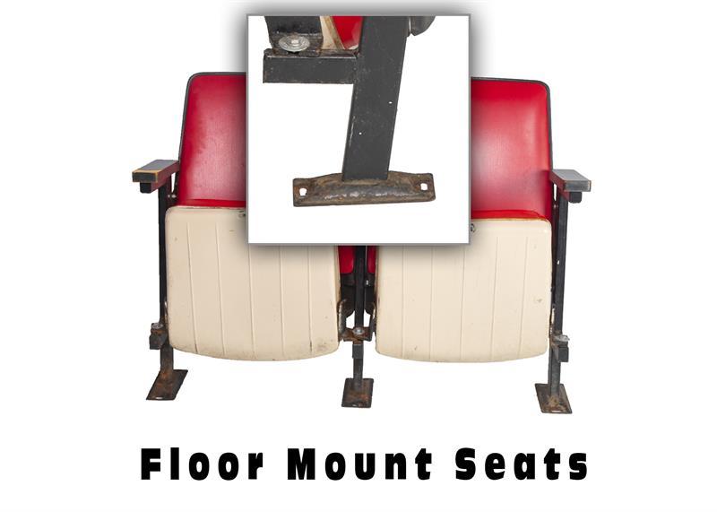 Joe Louis Arena Floor Mount Seat Feet
